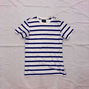 Official HUF Primary Blue Striped Tee